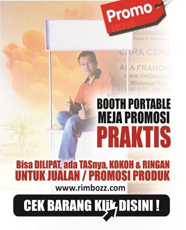 booth portable meja lipat promosi gerobak jualan