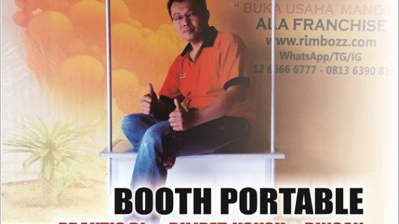 meja lipat promosi, booth promosi